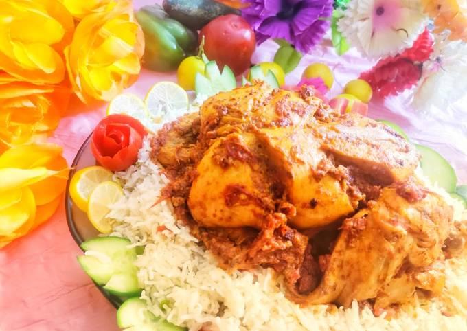 Recipe of Favorite Chicken charga with veggi rice