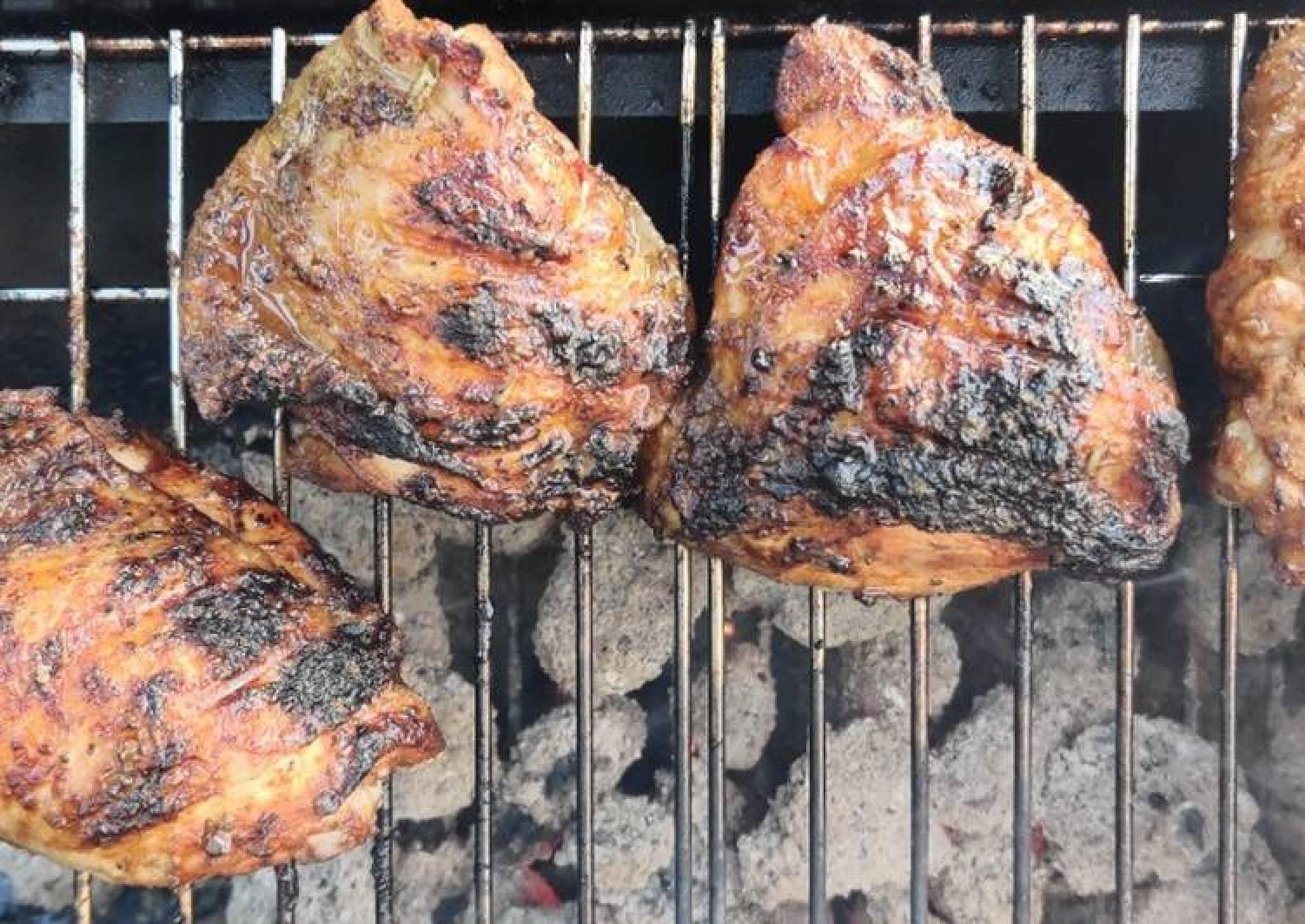 Marinaded BBQ chicken thighs