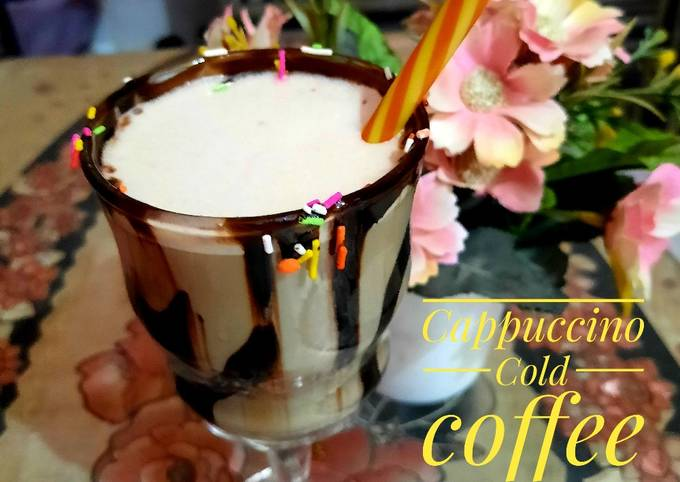 How to Make Super Quick Homemade Cappuccino cold coffee