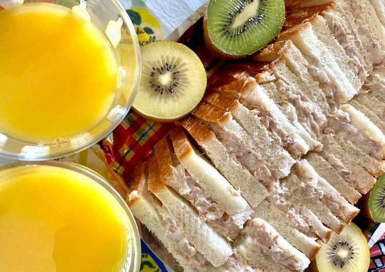 Steps to Make Speedy Greek Yoghurt Tuna Sandwiches