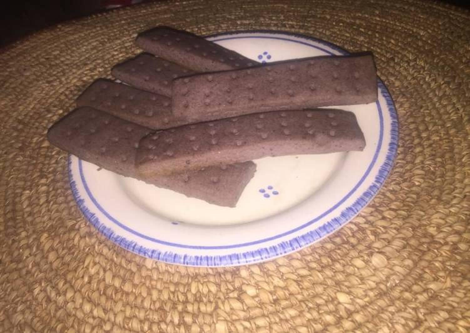 Purple shortbread