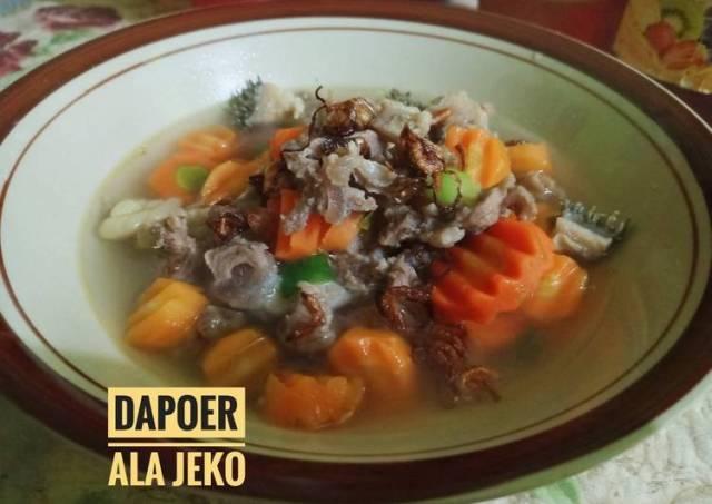 Sop Daging Sapi Ala Jeko