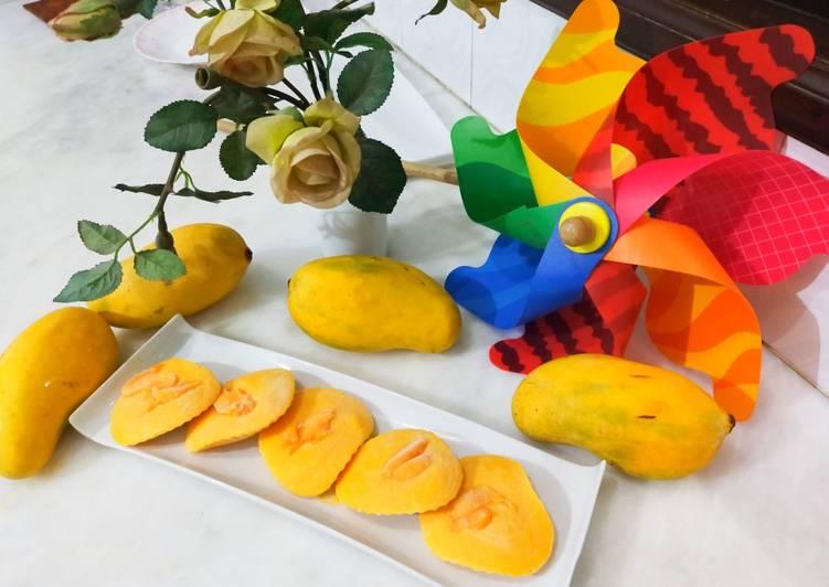 Frozen mango yoghurt bites/ 3 ingredients mango dessert