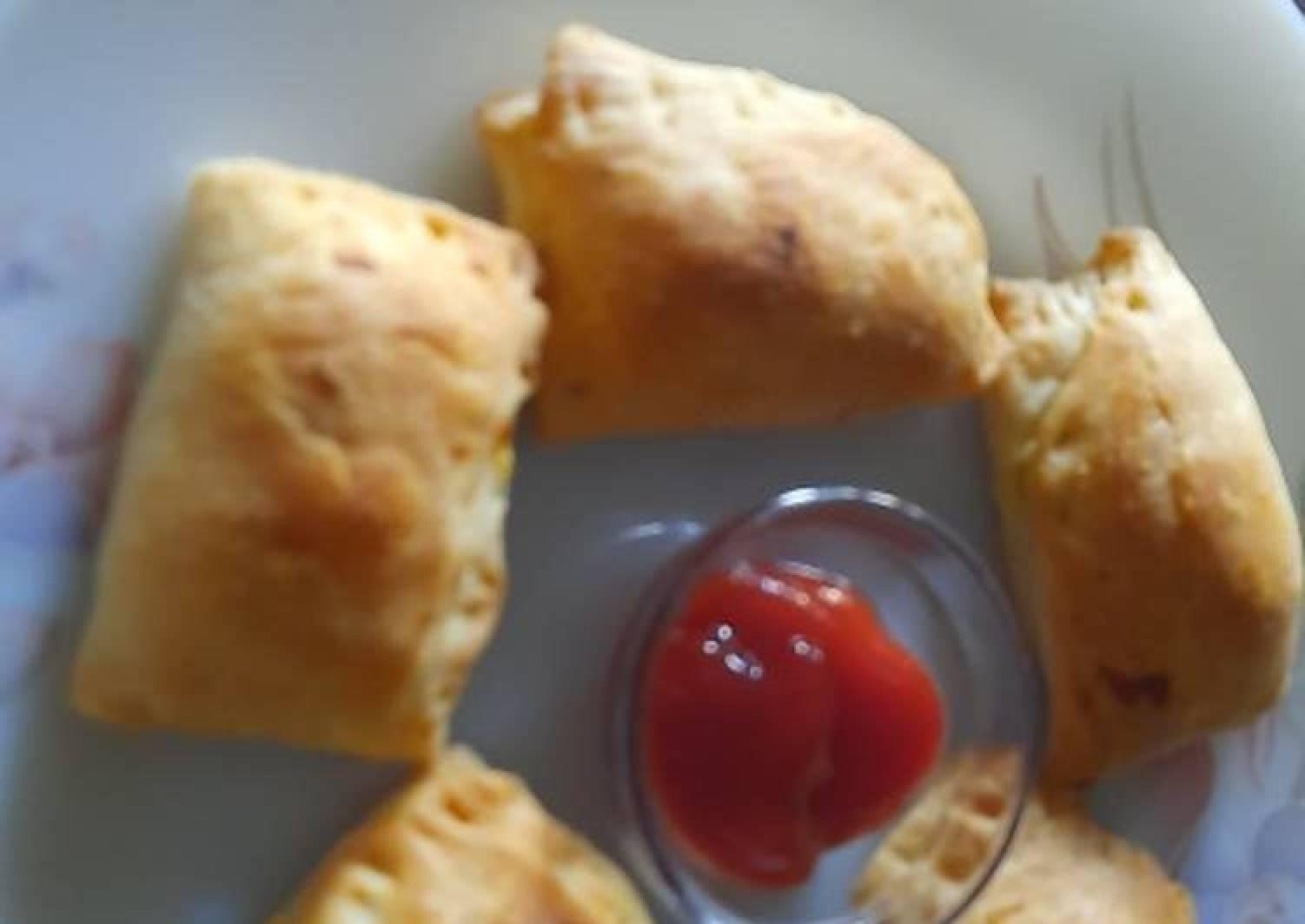 Veg puff (homemade pastry sheet)