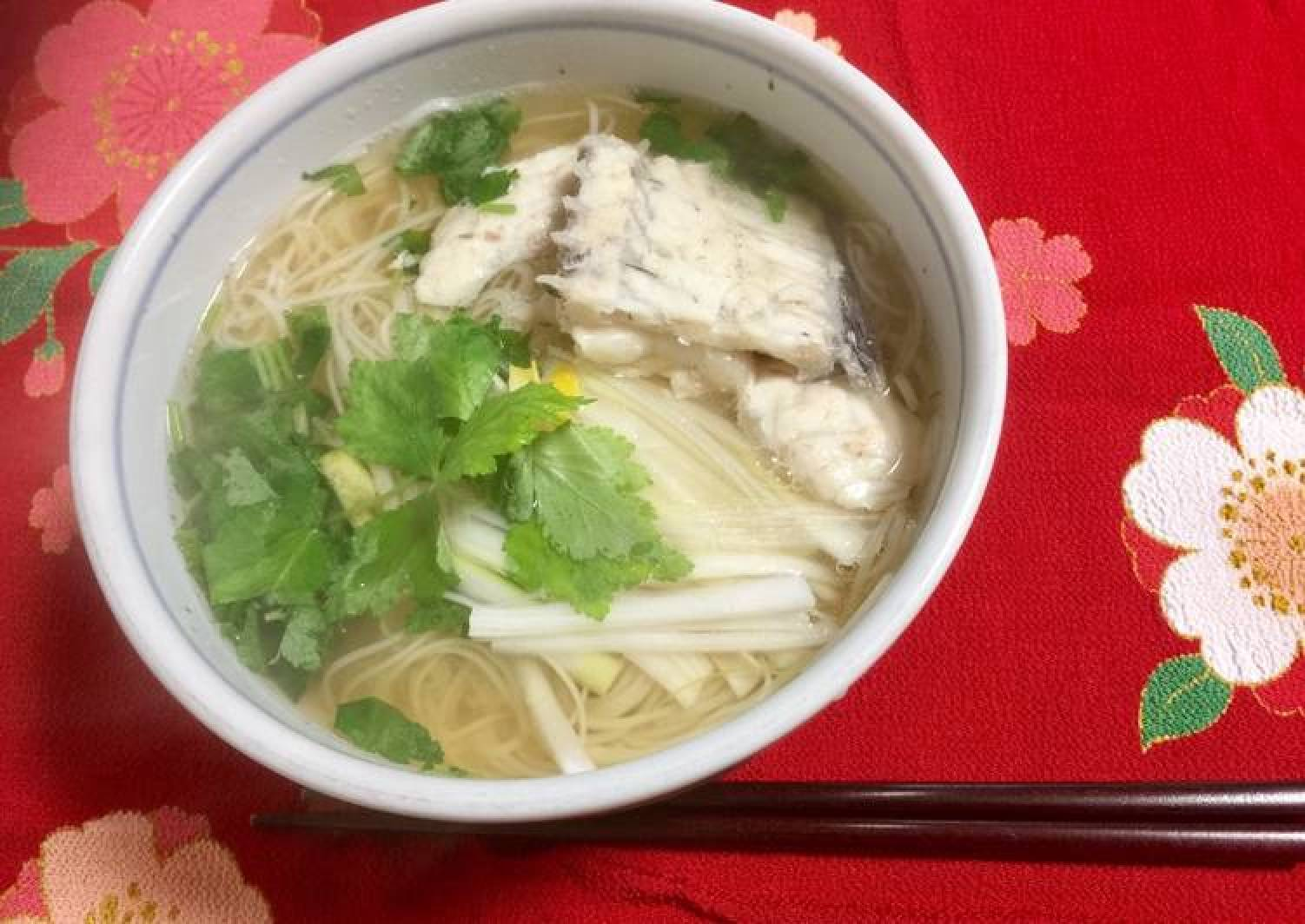Japanese Red Snapper Soup Noodle