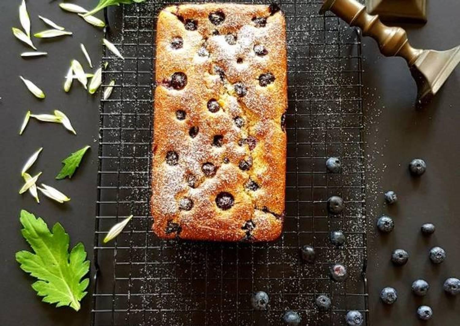 Eggfree Almond Blueberry Cake
