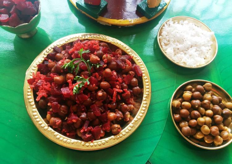 How to Prepare Ultimate The gentle Udupi treat ??? Beetroot and black chickpeas curry