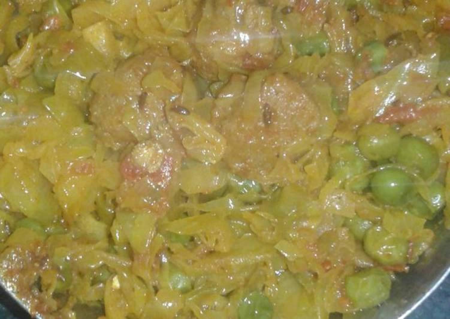 Veg soyabeen & cabbage sabji
