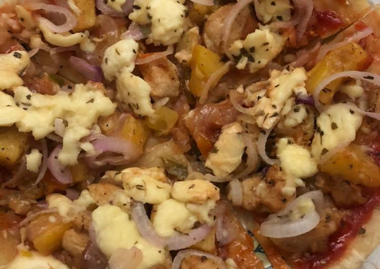 হাওয়াইআন চিকেন পিৎজা(Hawaiian Chicken Pizza)