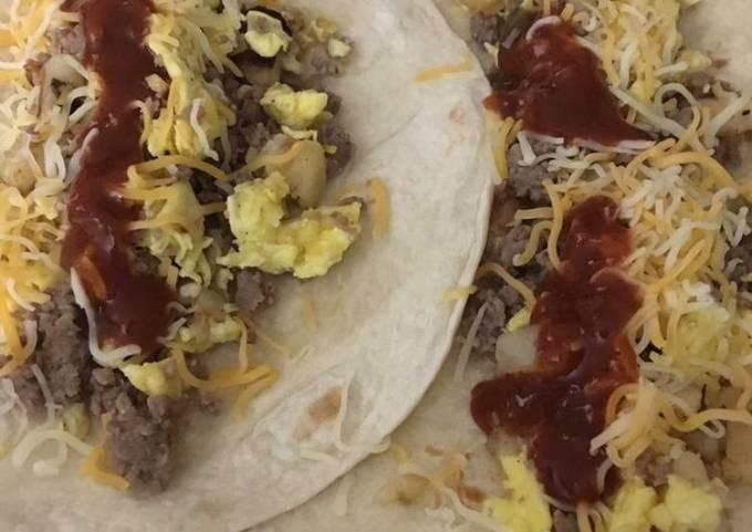 Breakfast skillet burrito