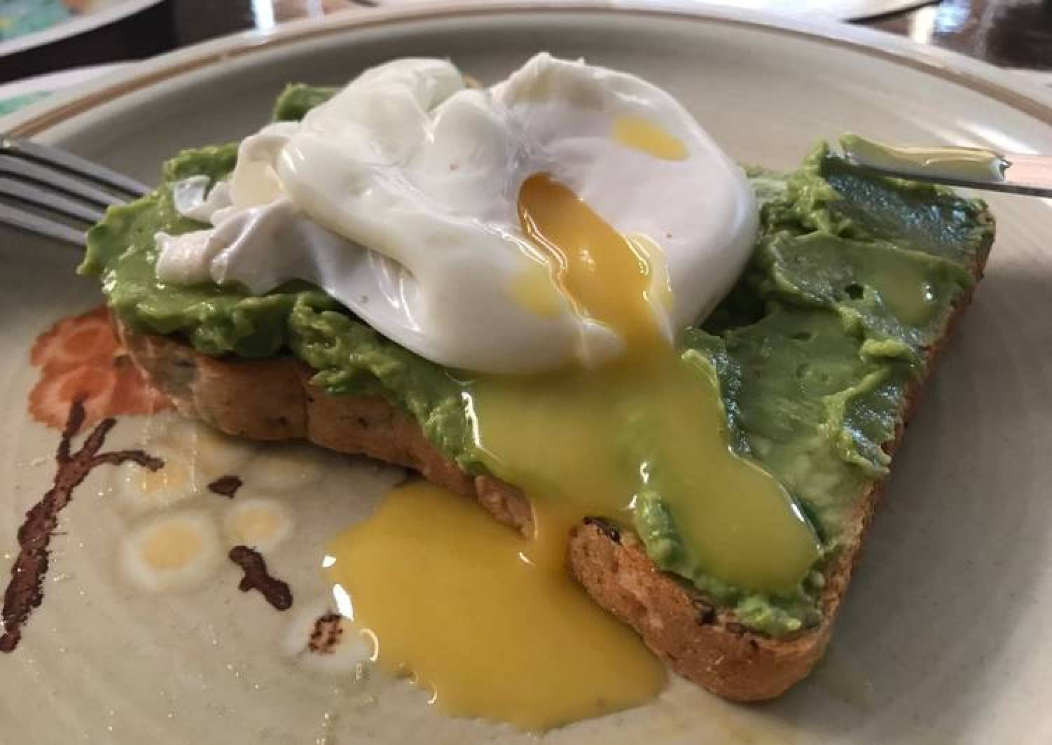 Poached egg on avocado toast