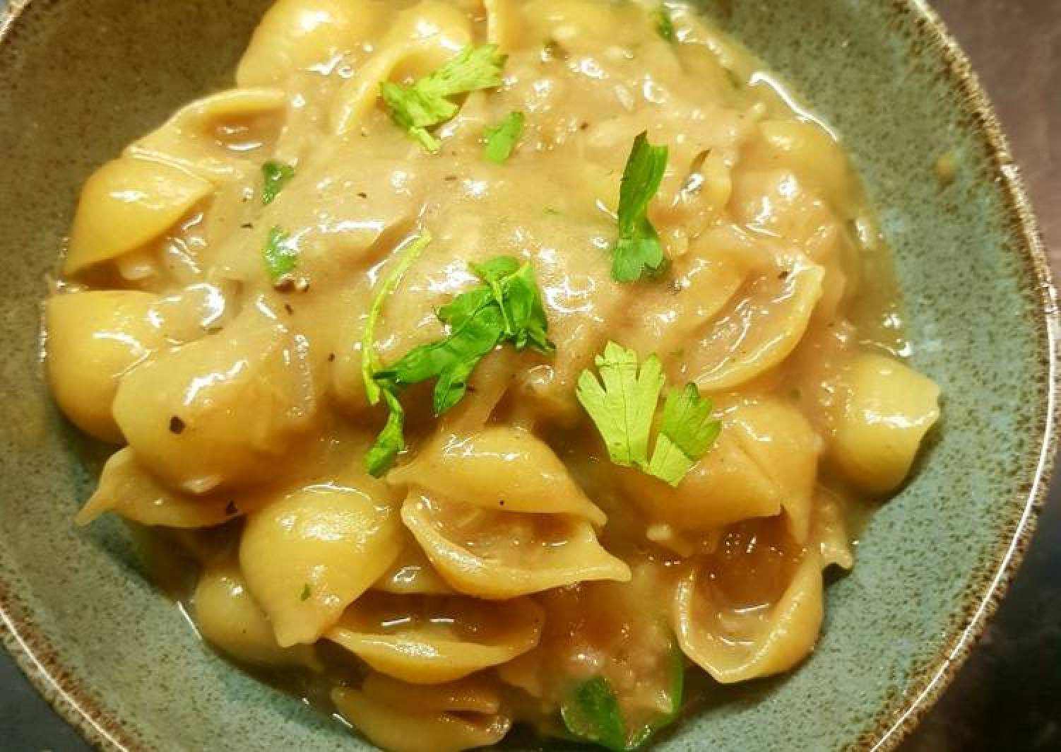 French onion soup pasta