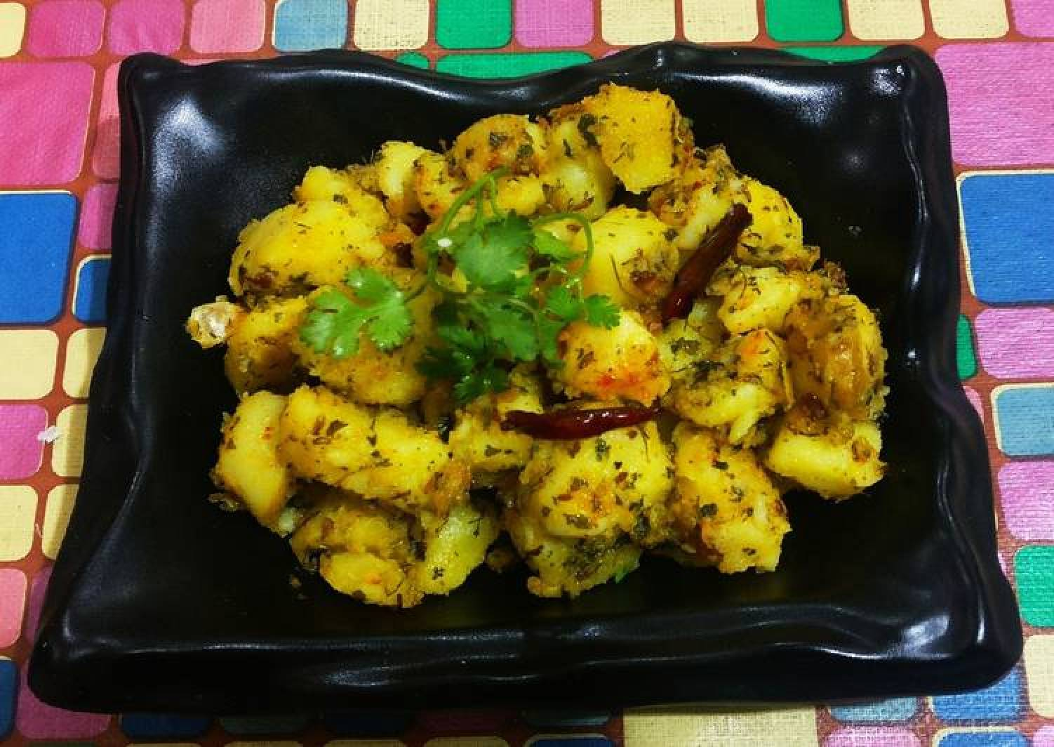Kasuri methi with potato