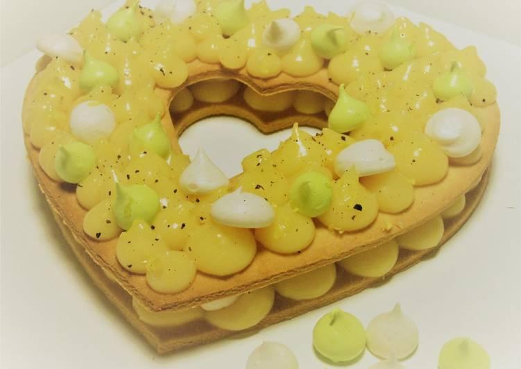 Tarte au citron en cœur façon number cake