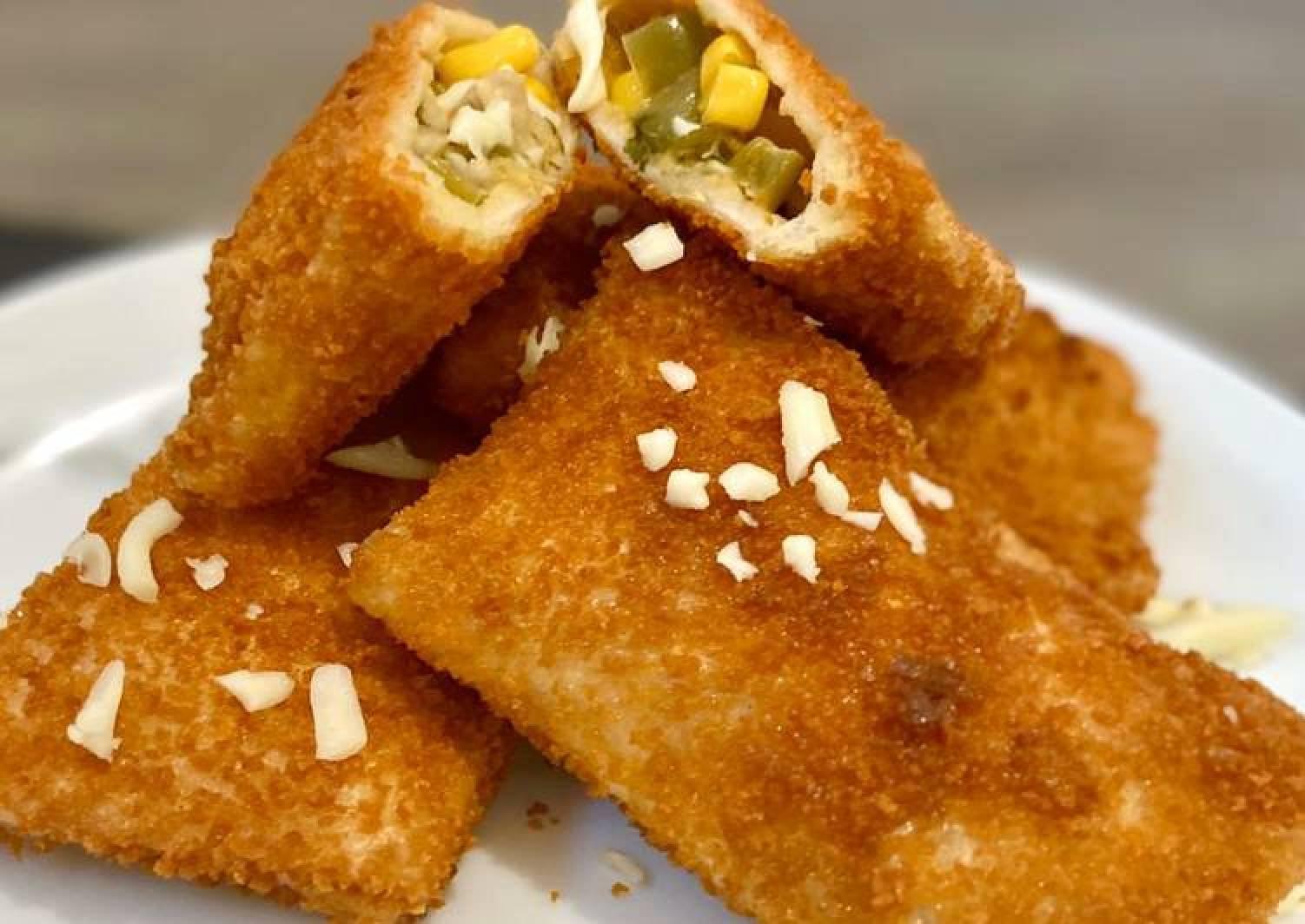 Chicken & vegetable Bread Roll #Ramadan