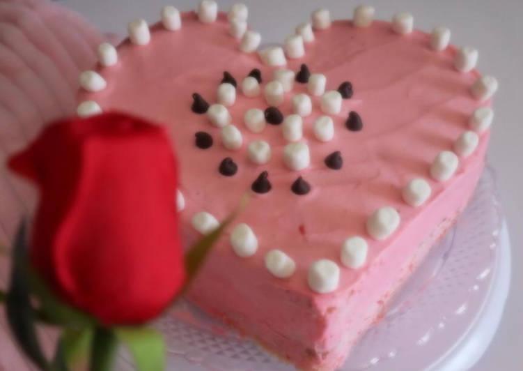 Valentine special sponge cake