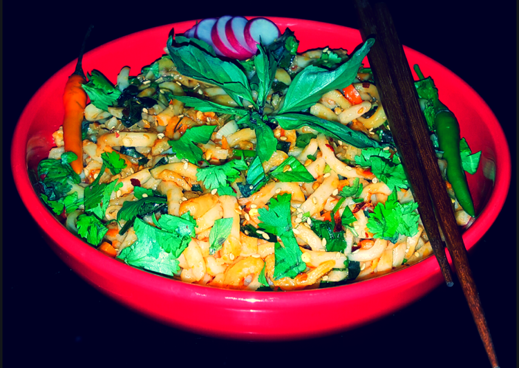 Mikes Spicy Thai Udon Noodles
