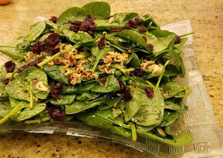 Ramen Noodle Spinach Salad