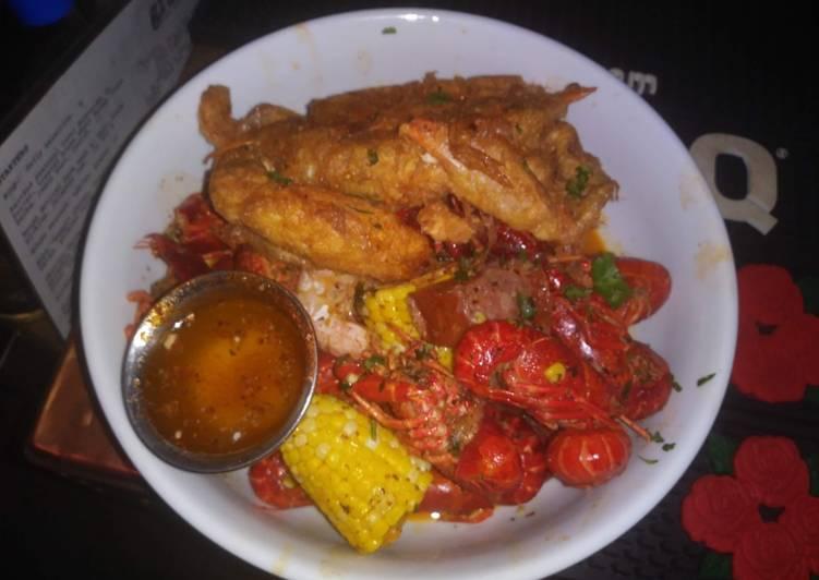 Soft Shell Crab with Crawfish and Smoked Sausage