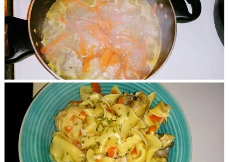 Chicken Noodles  Veggies
