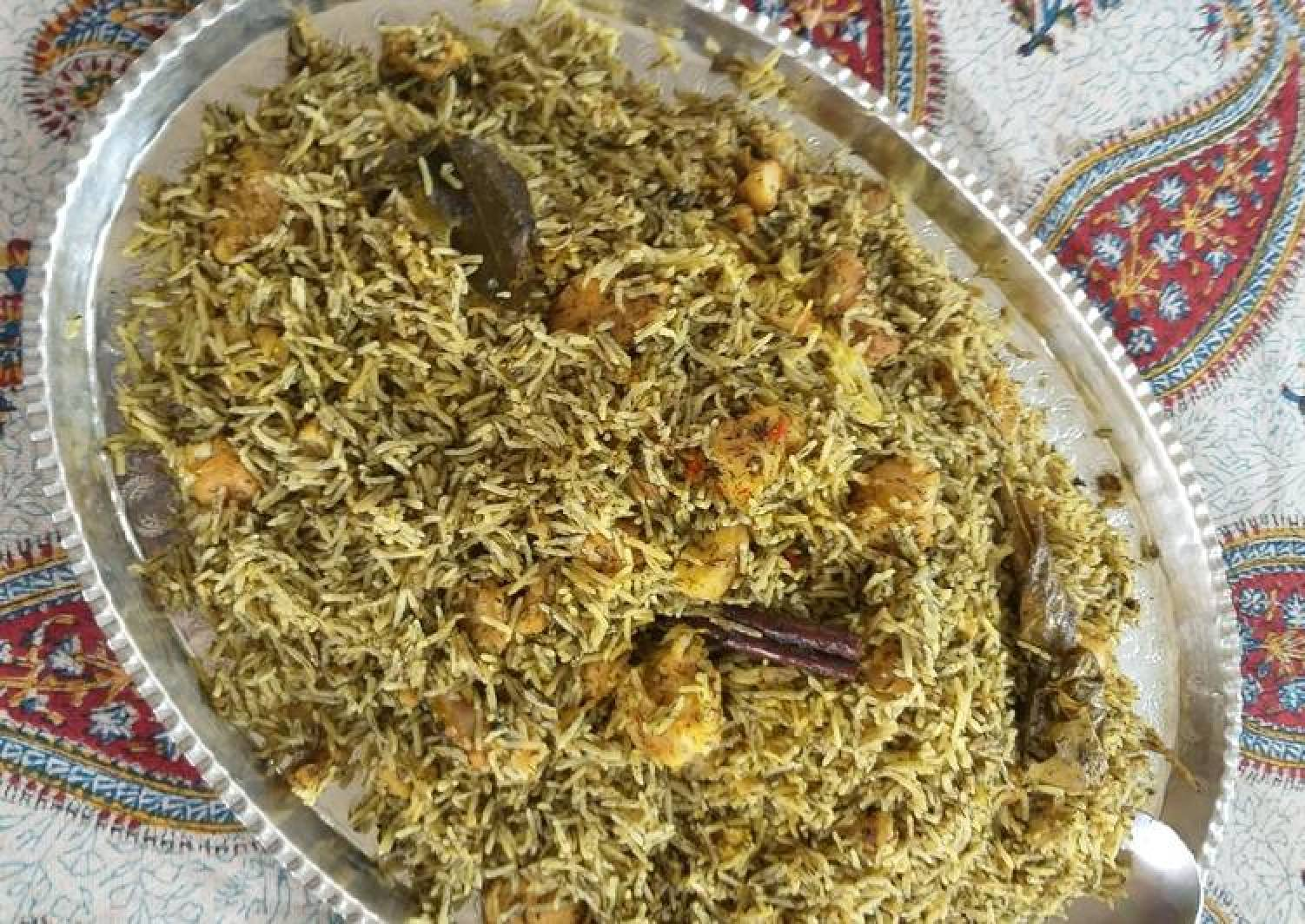 Dill and fish pilaf