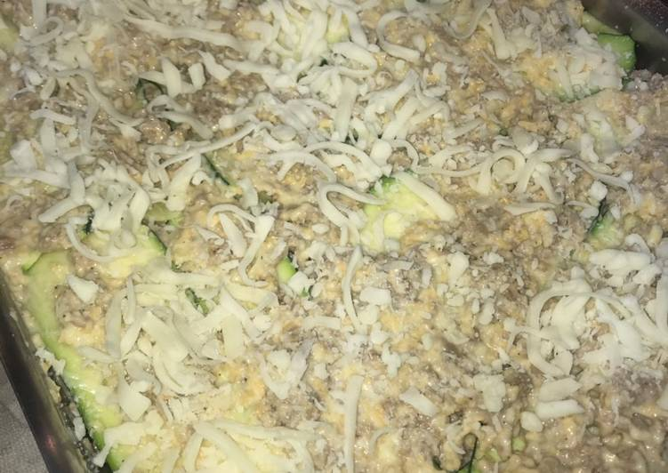 4 cheese zucchini lasagna (keto)