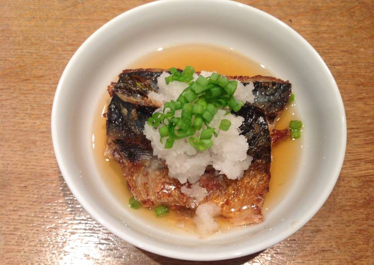 Easiest Way to Prepare Quick Grilled mackerel and grated mooli in Japanese style