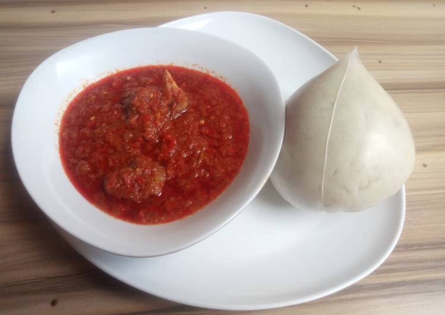 Pounded yam with stew