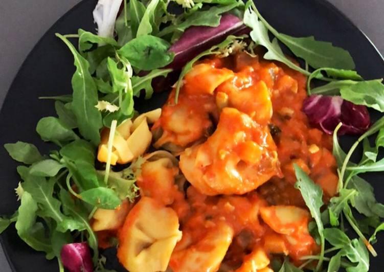 Ravioles tomates et légumes