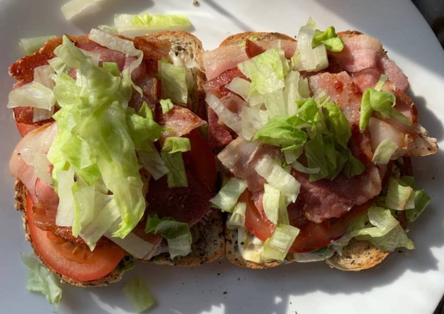 BLAT (Bacon, Lettuce, Avocado, Tomato) Sandwich