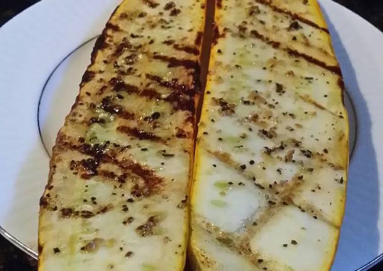 Brad's grilled yellow zucchini