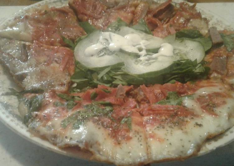 Low carb Keto skillet pizza