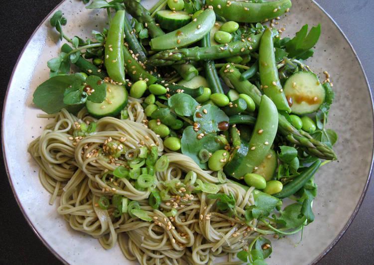 Green Cha-Soba Noodle Salad