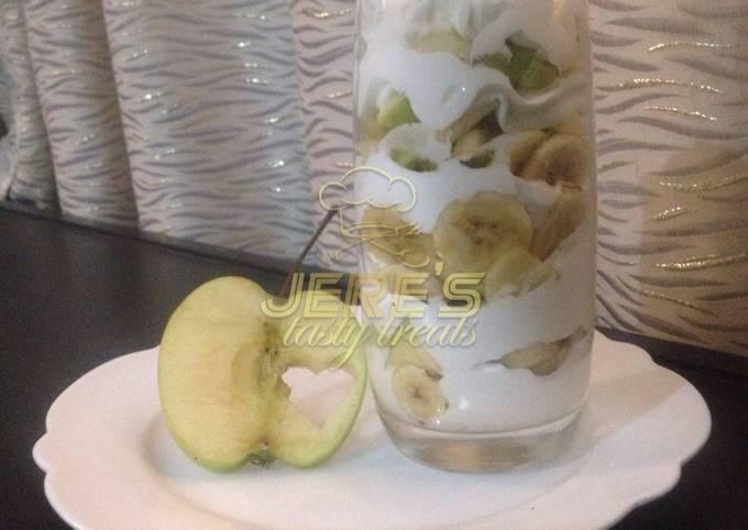 Creamy fruits salad
