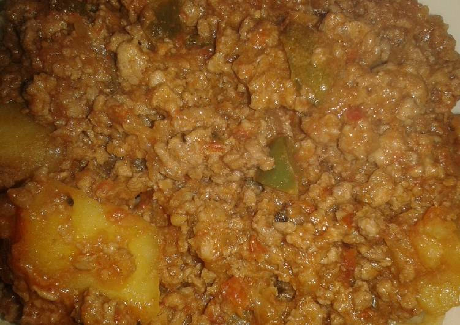 Mince meat & Potato Curry