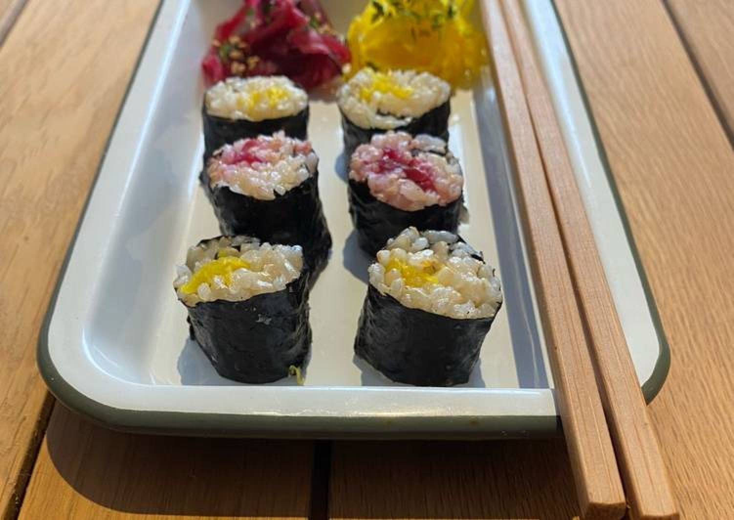Fermented Vegetable Brown Rice Sushi