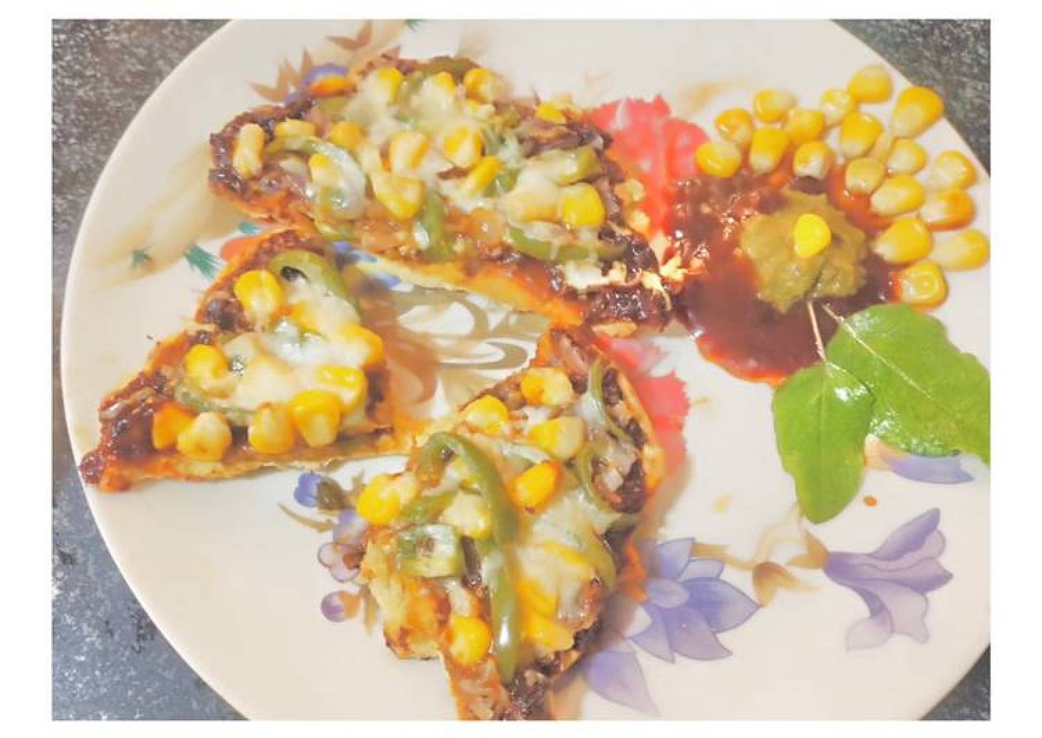 Besan Mexican Cheezy Slice (Pizza)