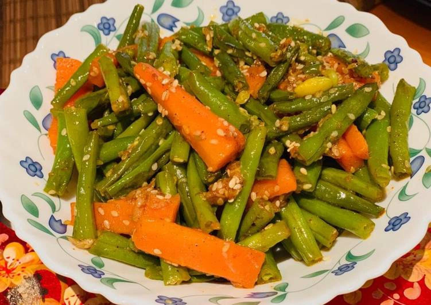 Beans and carrots stir fry