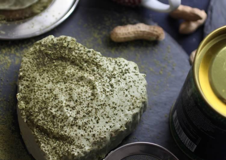 MATCHA CHEESECAKE 🌿 no-bake and KETO friendly