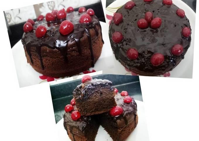 Whole Wheat Jaggery Chocolate Cake(Healthy Chocolate Cake)