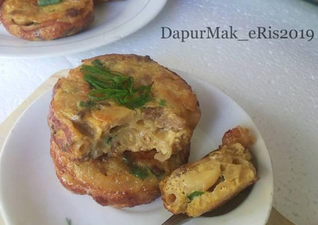 Mini Omelet Makaroni Daging Cincang