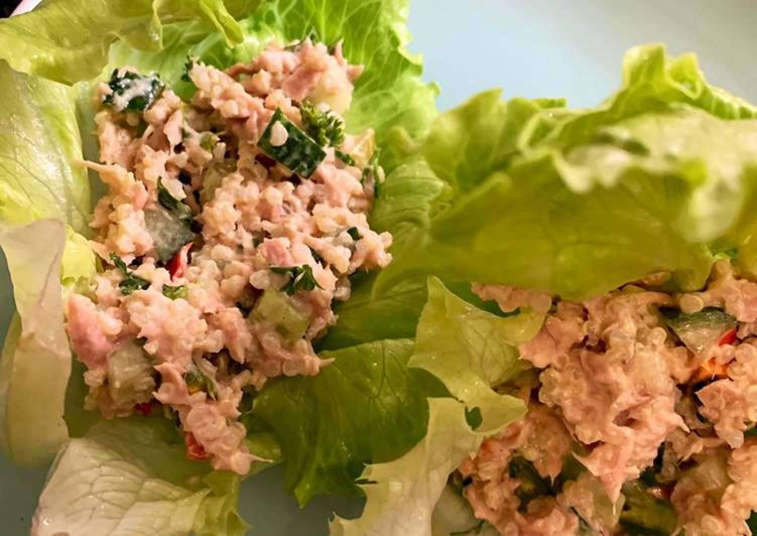 Lazy Tuna Lettuce Wraps