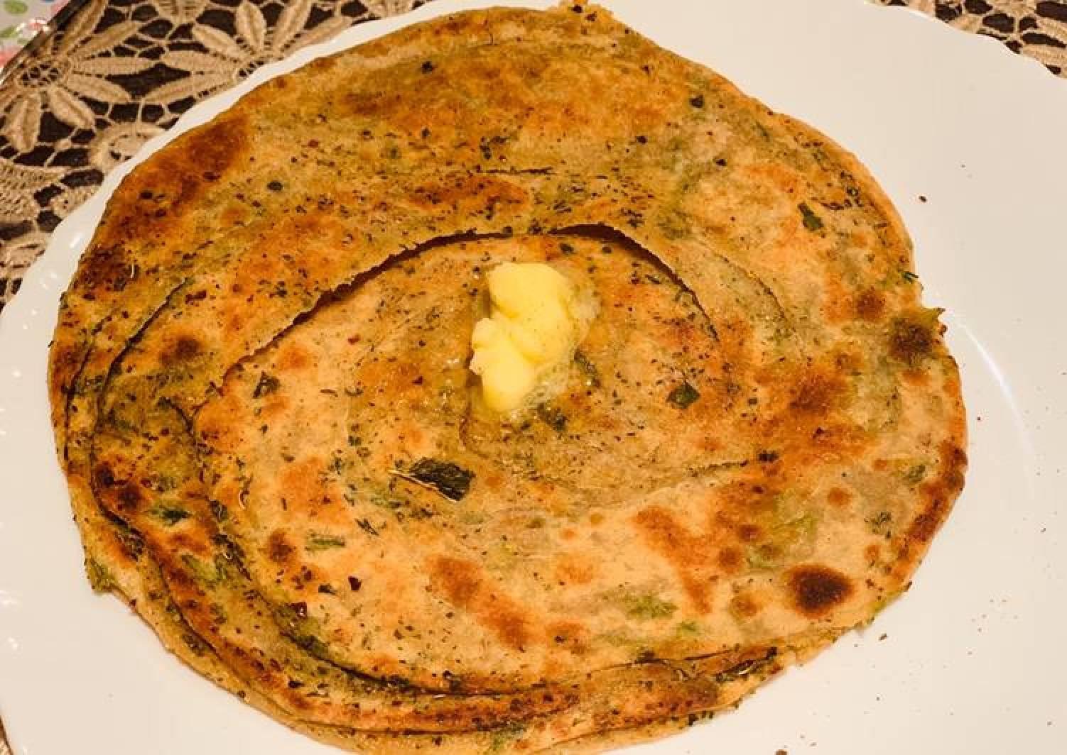 Dried Mint Paratha