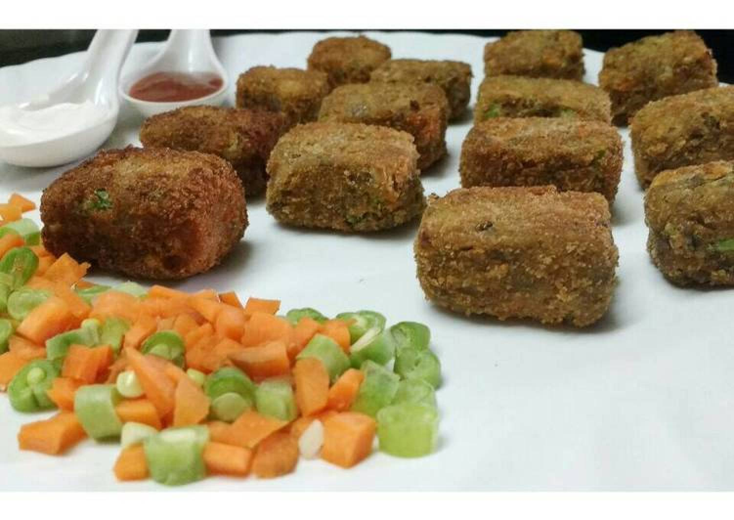 Mixed lentils beans veg nuggets