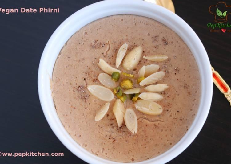 Vegan Date Phirni