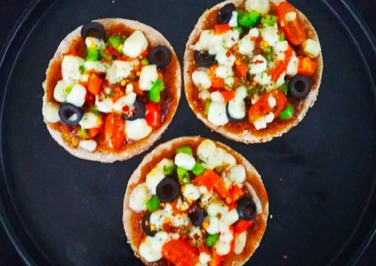 Recipe of Perfect Multigrain Mini Pizzas