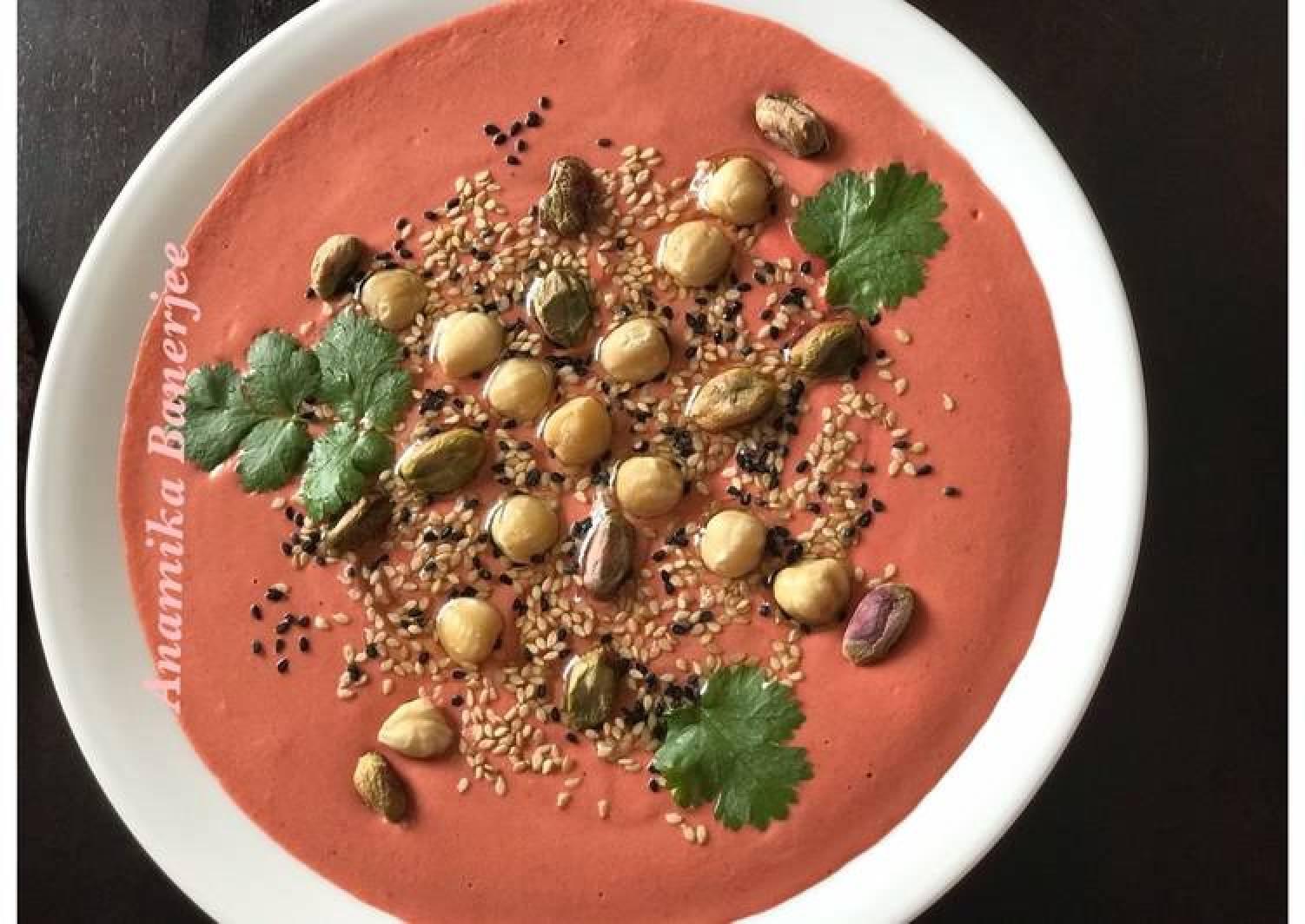 Beet Tahini Hummus