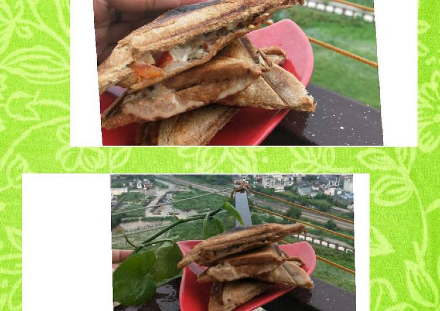 Raw Macroni Mayonnaise-Curd Sandwich