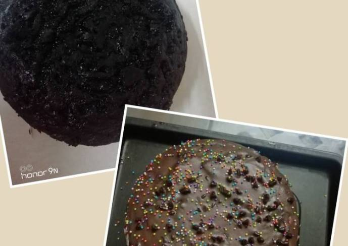 Oreo chocolate cake baked without microwave
