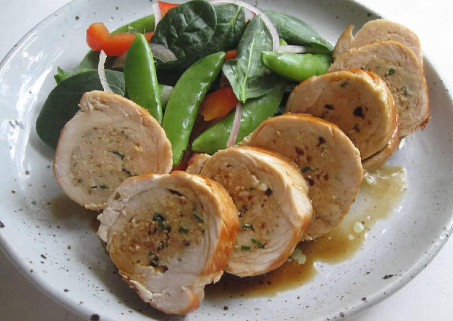 Shiso (Basil) & Lemon Rolled Chicken